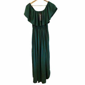 Sarin Mathews Womens Off The Shoulder Maxi Dress